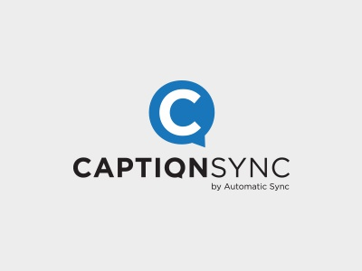 CaptionSync Logo Concept sync audio sound logo talk text caption