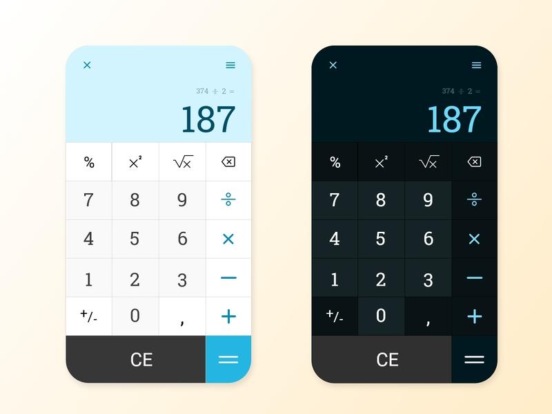 #DayliUI 004 - Calculator calculator fake app illustration dayliui