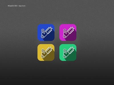 #DayliUI 005 - App Icon app icon chainsaw illustration