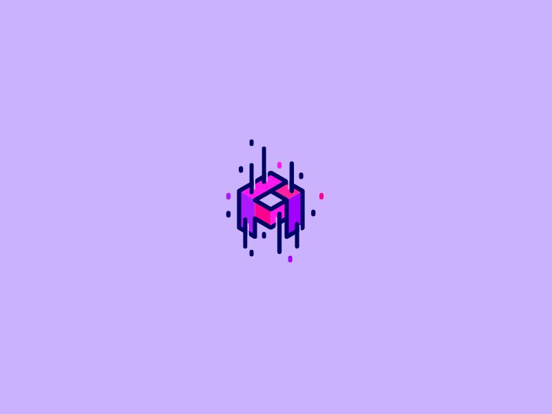 Piskunov design cute purple letter personal logo brand identity branding logomachine logotype logo