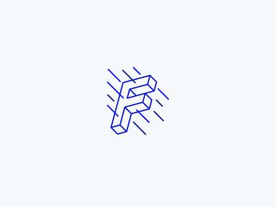 Furious logo inspiration blue web services minimalistic brand identity branding logomachine logotype logo