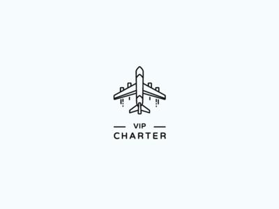 VIP Charter vector charter plane aviation design logo design logomachine logotype logo