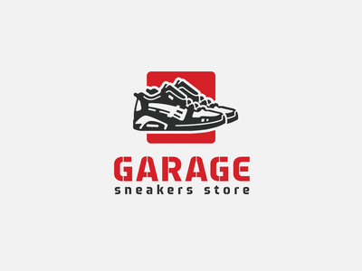 Garage Logo We Created For A Sneakers Store Logomachine