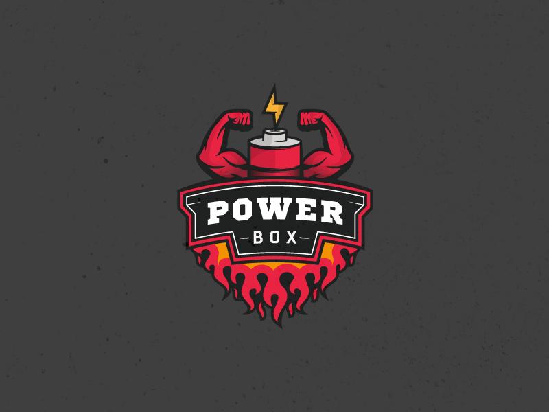 Power Box brand identity branding vector design sport nutrition sport logomachine logos logotype logo