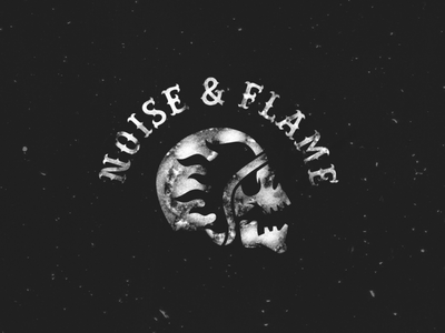 Noise&flame bar pub beer scull fire branding brand design logotype logo