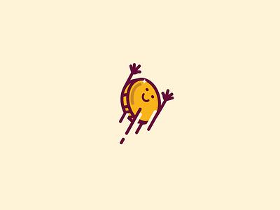 Bye Bye Money store female cute yellow coin cash money identity branding brand logotype logo