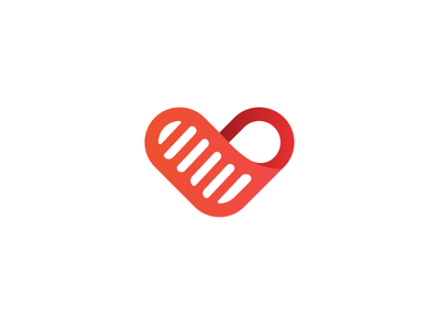 Light heart red oncology children fund charity identity brandidentity branding brand logotype logo