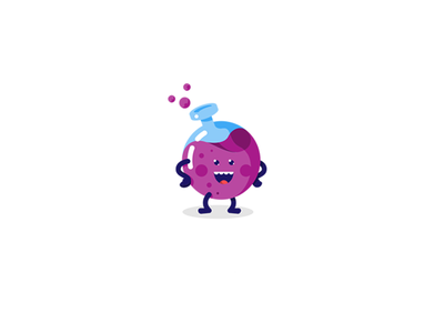 Driplab II white blue purple mascot funny vape identity brandidentity branding brand logotype logo