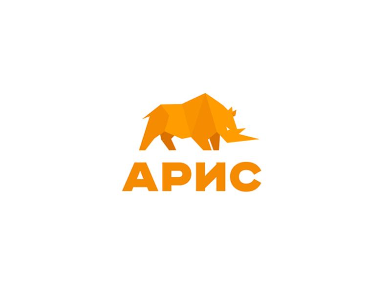Aris II white orange font construction animal identity brandidentity branding brand logotype logo