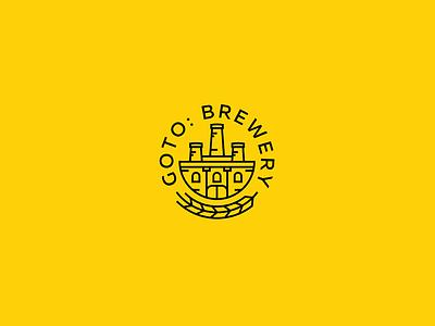 GoTo: Brewery black yellow minimal line beer brewery identy brandidentity branding brand logotype logo