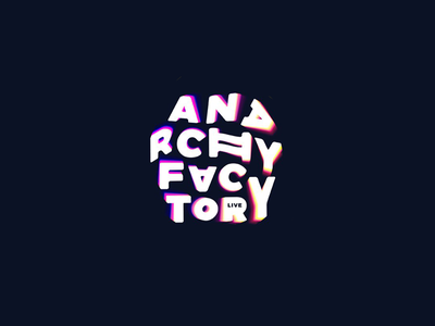 Anarchy Factory bright font music chaos anarchy identity brand logotype logo