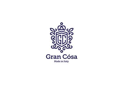 Gran Cosa blue soft font sign elegant products identity branding brand logotype logo