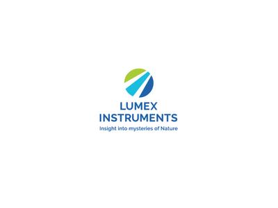 Lumex instruments white green blue nature analyses font sign identity branding brand logotype logo