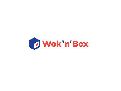 Wok`n`Box blue red sushi asia meal food identity brandidentity brand logotype logos logo