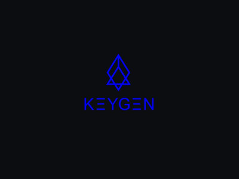 Keygen black neon type font blue sign music identity brand logotype logos logo