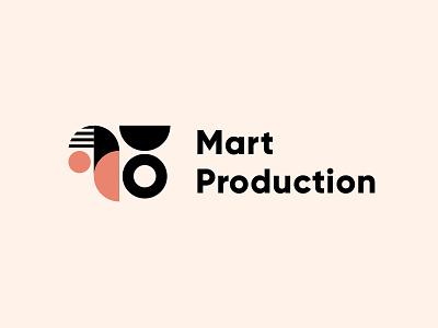 Mart Production knowledge online schools pattern produser produce production company logomachine identity brand branding logotype logo
