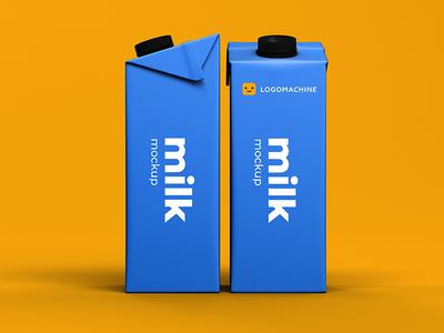 Milk Mockup mockup template mockup design mockup psd mock-up mockups mockup blue logomachine brand branding logotype logo