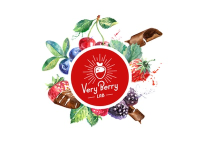 Very Berry Lab present woman illustration chocolate giftshop souvenir strawberries berries flowers gifts gift brandidentity logomachine identity brand branding logotype logo