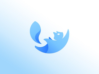 Flying Squirrel animal minimalism astronaut parachutist flying air tube spare parts game entertainment mascot logo illustration logomachine identity brand branding logotype logo