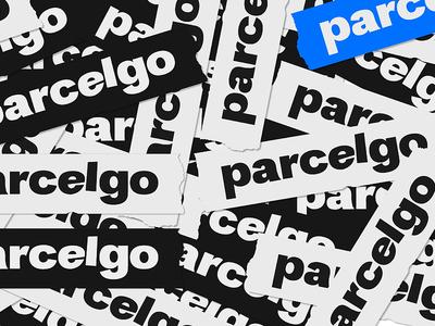 Parcelgo functional design geek culture service fashion clothes post shipments tracking app track brand identity white brandidentity logomachine identity brand branding logotype logo