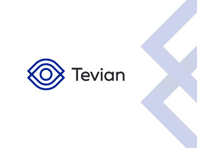 Tevian artificial intelligence ai algorithm eye retail analytics research photo video brandidentity logomachine identity brand branding logotype logo