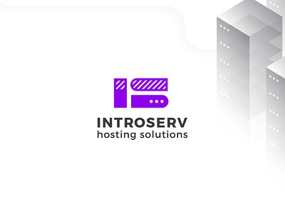 Introserv button server cloud code infrastructure development hosting host architect logomachine identity brand branding logotype logo
