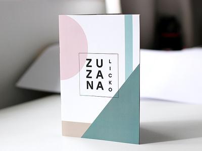 ZUZANA LICKO brochure catalog cover booklet typography design