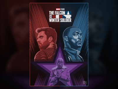 The Falcon and The Winter Soldier poster design digital art vector illustration illustration vector poster falcon and the winter soldier posterdesigner superhero disney marvel