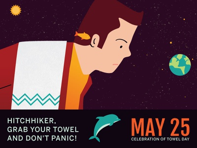 Celebrate Towel Day  hitchhikers guide fish douglas adams day towel