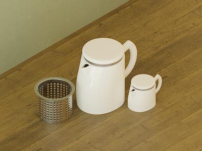 Soft Brew coffee design blender3d blender 3d