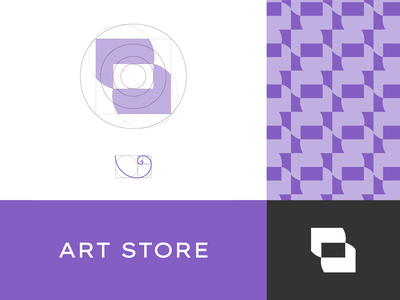 Art Store art store app web blue black illustration agency simple design branding logotype logo
