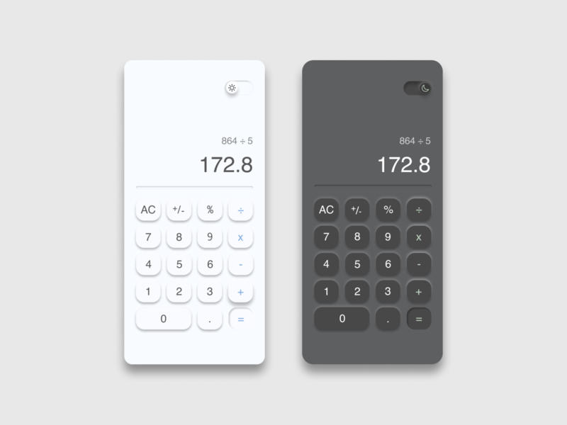 Daily UI 004 - Calculator ui neumorphism uidesign calculator ui calculator dailyuichallenge dailyui 004 dailyui