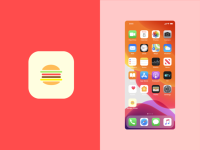 DailyUI 005 - App Icon foodicon ui fastfood icon hamburger icon app icon design dailyuichallenge dailyui005 dailyui app icon
