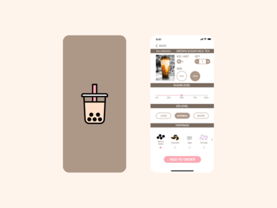 Daily UI 007 - Settings tea ordering app settings ui setting bubbletea orderpage ui dailyuichallenge dailyui dailyui 007