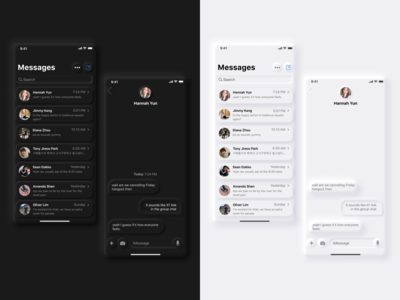Daily Ui 013 - Direct Messaging ios direct messaging message chat lightmode darkmode neumorphic design skeumorphism design neumorphism uidesign daily 100 challenge ui dailyuichallenge daily ui 013 dailyui