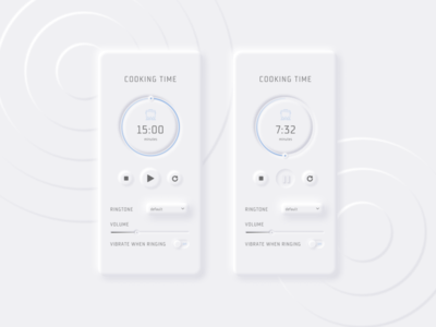 Daily UI 014 - Countdown Timer cooking timer simple minimal dailyui014 countdowntimer countdown lightmode neumorphic design skeumorphism design daily ui neumorphism uidesign daily 100 challenge ui dailyuichallenge dailyui
