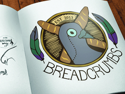 Breadcrumbs Bakery logo logo graphic design branding