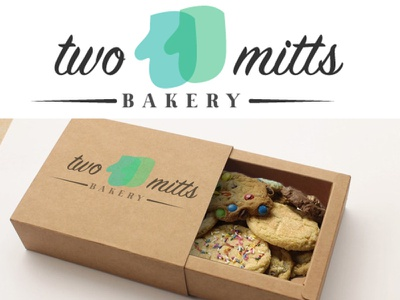 Two Mitts Logo & Packaging packaging package bakery branding logo