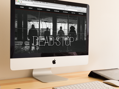 Dead:Stop Website Mockup logo branding band