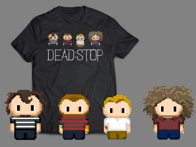 Dead:Stop Pixel Sprite T-shirt illustration logo branding band