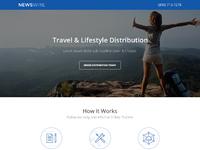 Newswire landing page