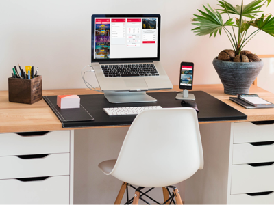 Clean MacBook Pro Workspace
