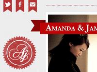 Wedding website & branding