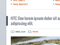 Android article header