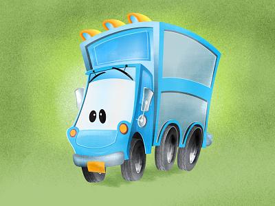 Truckn' illustration childrens bool vector texture character development wip character design truck app