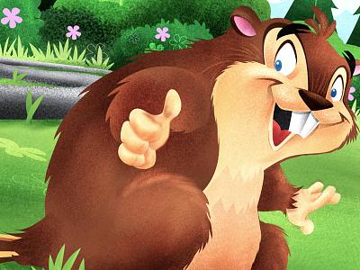 Beaver Darn beaver animal whimsical illustration childrens book vector texture illustrator app