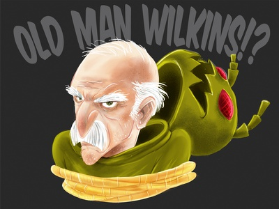 Old Man Wilkins?! illustration childrens book vector texture character development character design