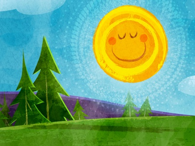 Sunny Days sunshine sun kid lit kidlitart childrens book picture book character illustration