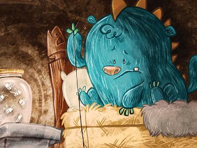Monster Bed Firefly monster bed firefly illustration