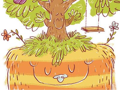 Happy Happy monster children animals kid lit character design illustration